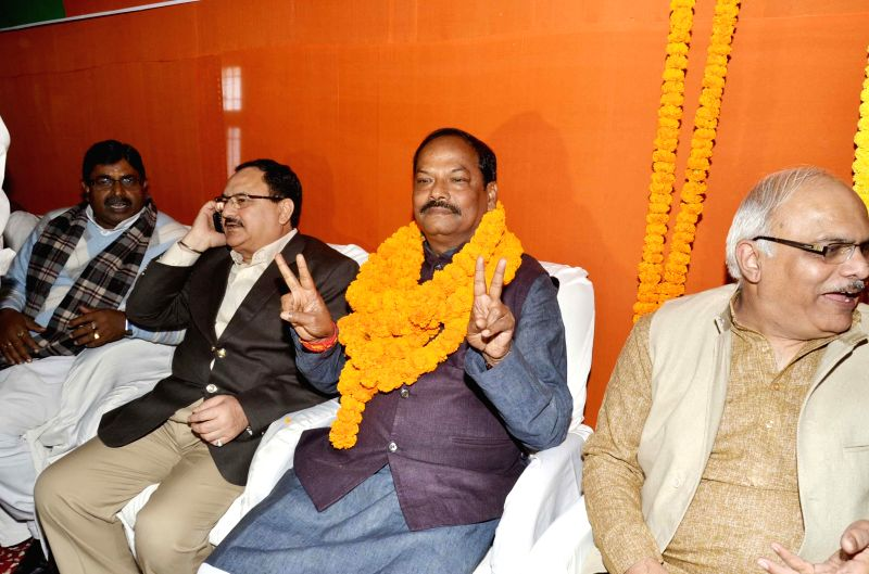 BJP leader Raghubar Das, who was elected as BJP state legislature party leader and is set to be the first non-tribal chief minister of Jharkhand in Ranchi, on Dec 26, 2014. Also seen BJP ...