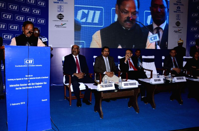 Jharkhand Chief Minister Raghubar Das, addresses during an Interactive Session organised by CII in Ranchi on Feb 7, 2015. - Raghubar Das