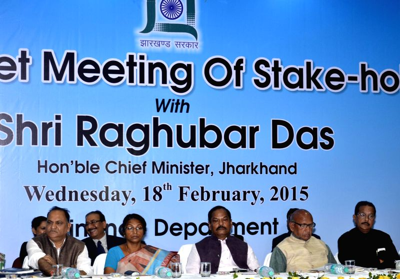 Jharkhand Chief Minister Raghuwar Das and other dignitaries  on Pre-Budget meeting of stake holders in Ranchi, on Feb 18, 2015. - Raghuwar Das
