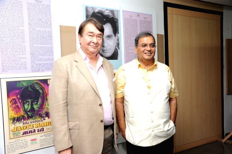 Randhir Kapoor and Subhash Ghai celebrate 100 years of Cinema at Whistling Woods International. - Randhir Kapoor