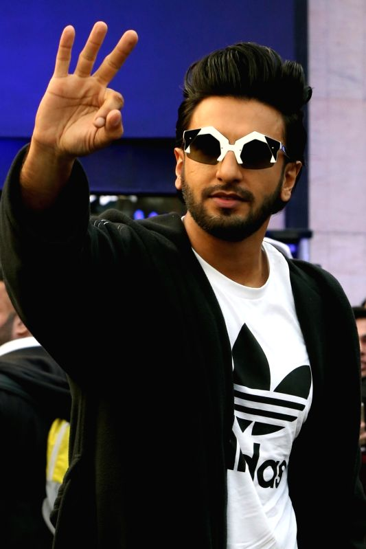 Ranveer Singh inaugurates a store of a sports shoe brand in New Delhi, on Dec 10, 2017.