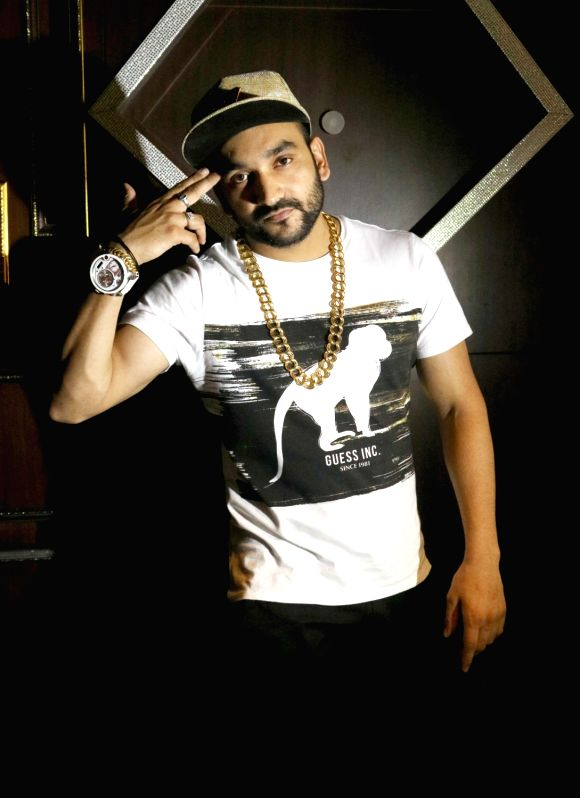 Rapper and singer Fazilpuria during a press conference in New Delhi on Aug 5, 2016.