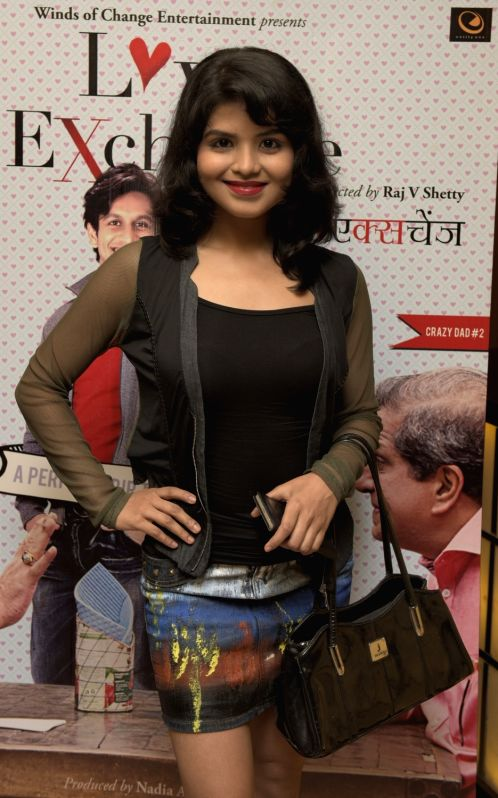Rashmi Pitre during the premiere of film Love Exchange in Mumbai on Oct 28, 2015.