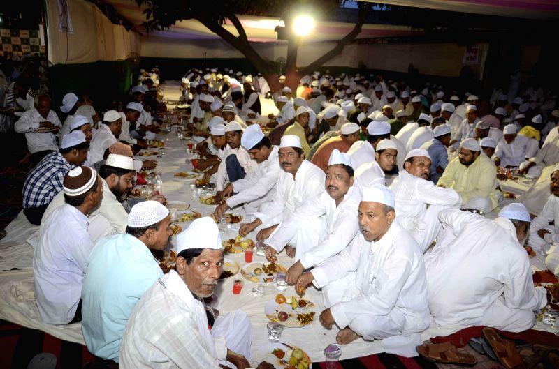 Rashtriya Janata Dal ( RJD) chief Lalu Prasad Yadav during Iftar party hosted at his house in Patna on July 26, 2014.