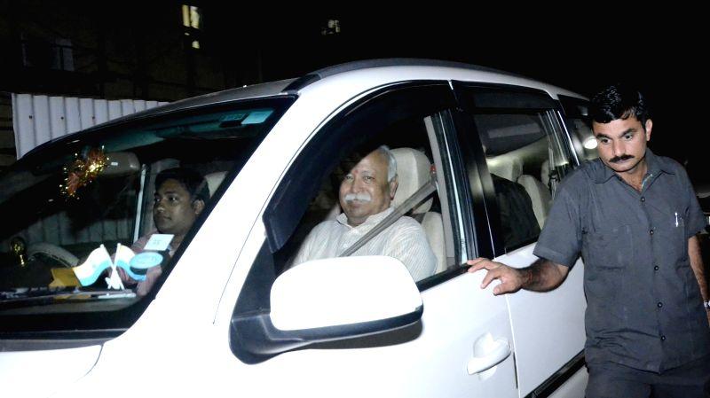 Rashtriya Swayamsevak Sangh (RSS) chief Mohan Bhagwat during a programme in Mumbai, on Aug 17, 2015.