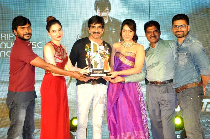 Ravi Teja, Tamanna, Rashi Khanna acted Bengal Tiger Movie Triple Platinum disc function held at Taj Deccan Hotel in Hyderabad on Nov 30, 2015 - Rashi Khanna