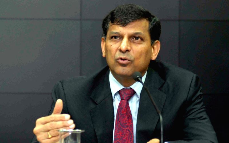 RBI Governor Raghuram Rajan addresses a press conference in Mumbai on Aug 9, 2016.