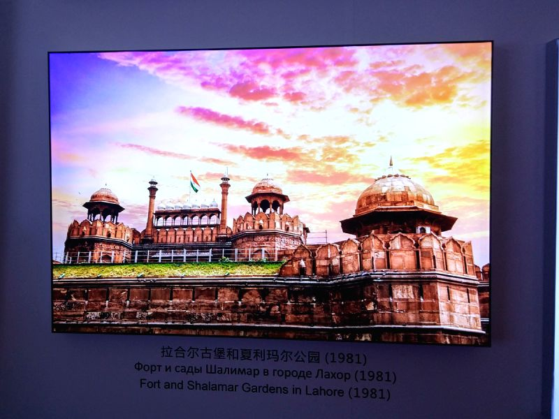 Red Fort shown as Shalamar Garden on Pakistan\'s tableau in Beijing.