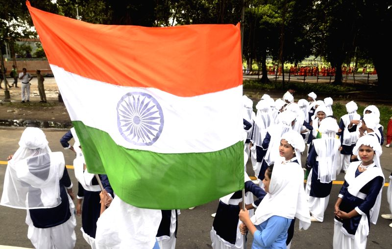 Rehearsals underway ahead of Independence Day celebrations, in Kolkata on Aug 12, 2018.