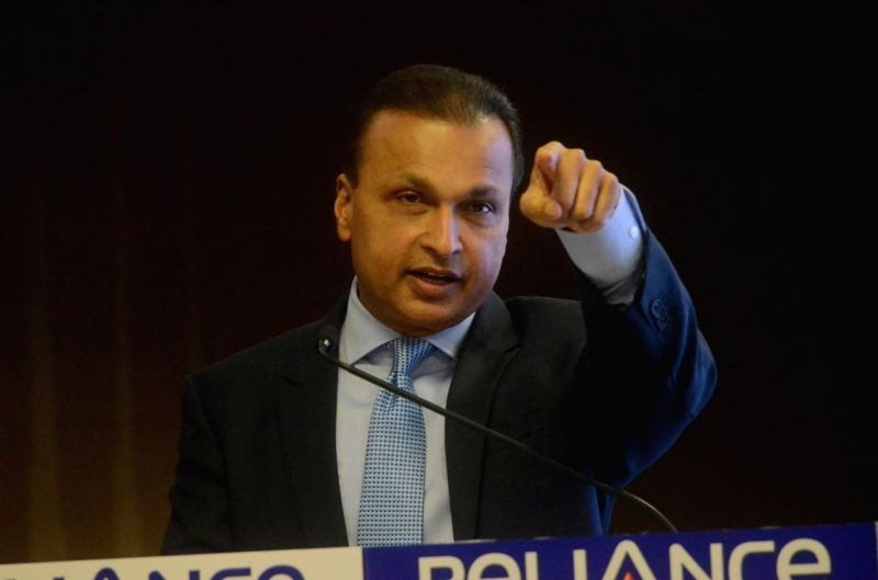 Reliance ADAG chairman Anil Ambani addresses a press conference in Mumbai on June 2, 2017. - Ambani