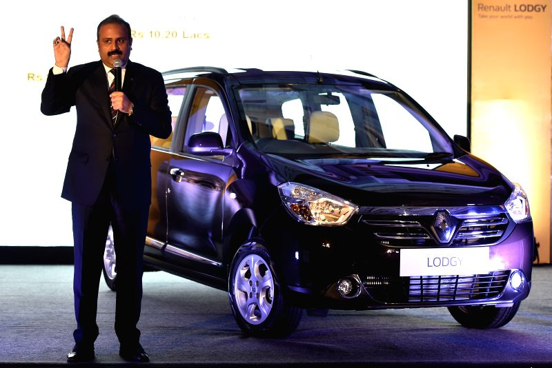 Renault Managing Director and Country CEO Sumit Sawhney at the launch of `Lodgy` in Chennai, on April 13, 2015.
