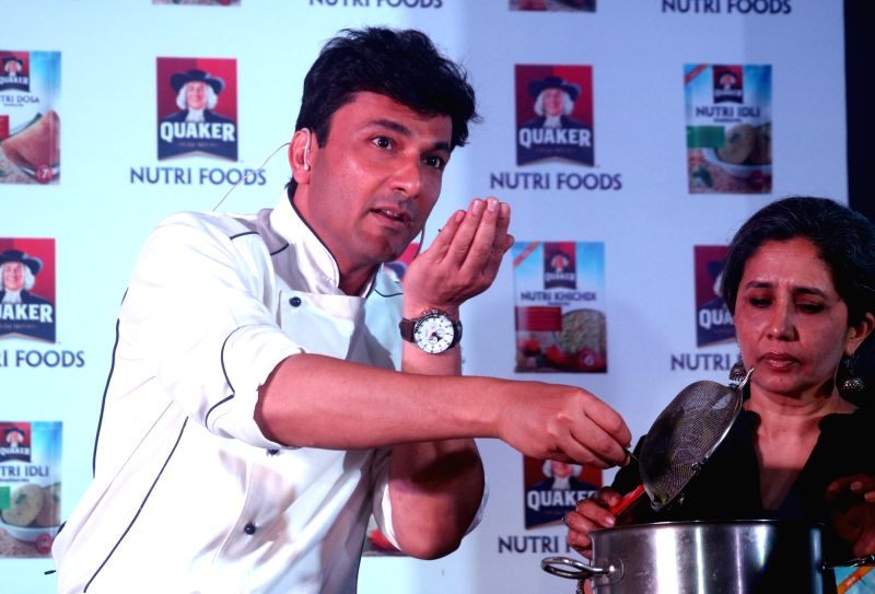 Renowned Chef  Vikas Khanna during a promotional programme in New Delhi on April 20, 2017. - Vikas Khanna