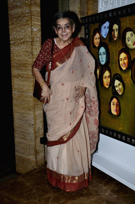 Renowned painter Lalita Lajm during the Osians preview exhibition of vintage film items in Mumbai, on Aug 22, 2014.