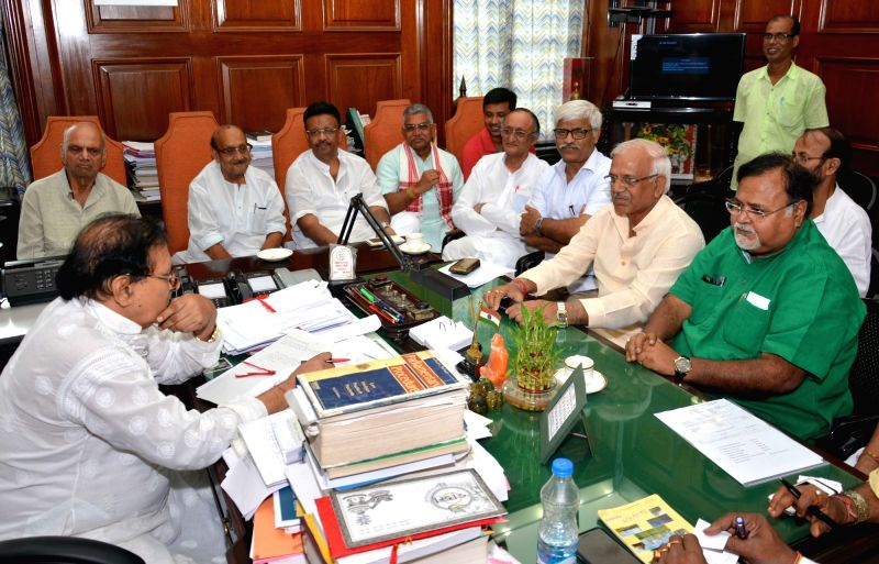 Representatives of different parties of West Bengal during an all party meeting called by state assembly speaker Biman Banerjee in Kolkata on May 16, 2017. - Biman Banerjee