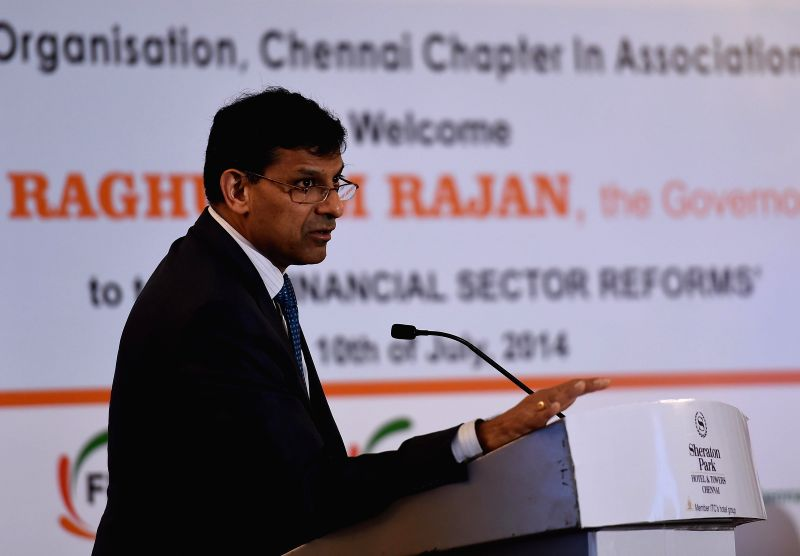 Reserve Bank of India (RBI) Governor Dr. Raghuram Rajan addresses during a programme in Chennai on July 10, 2014.