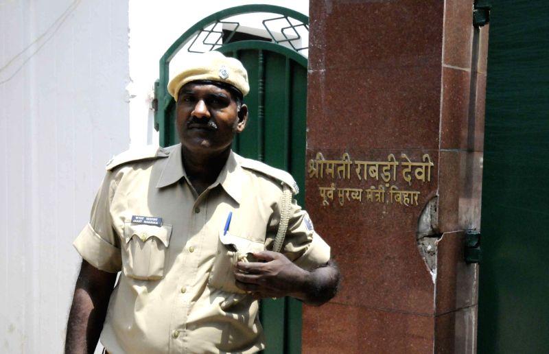 Residence of RJD chief Lalu Prasad Yadav in Patna on May 16, 2017. - Lalu Prasad Yadav
