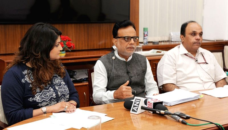 Revenue Secretary Dr. Hasmukh Adhia at the Facebook Q&A session on GST in New Delhi on May 1, 2017.