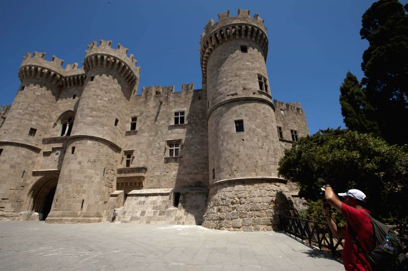Photo taken on July 12, 2014, shows the Palace of the Grand Masters in Medieval City of Rhodes in Rhodes, Greece. The Order of St John of Jerusalem occupied Rhodes ..