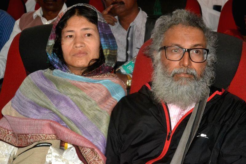 Rights activist Irom Sharmila Chanu during a programme organised on Gauri Lankesh's birth anniversary in Bengaluru, on Jan 29, 2018.