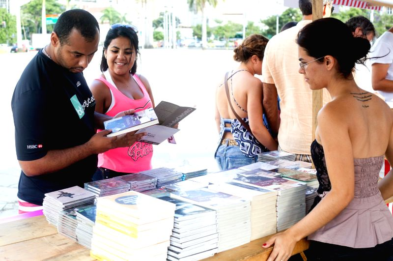 People visit a book fair marking the World Book Day, in Rio de Janeiro, Brazil, on April 25, 2015.