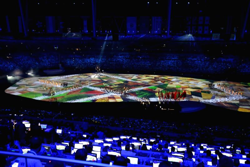 Rio de Janeiro: Artists perform during the opening ceremony of the 2016 Rio Olympic Games at Maracana Stadium in Rio de Janeiro, Brazil, Aug. 5, 2016.