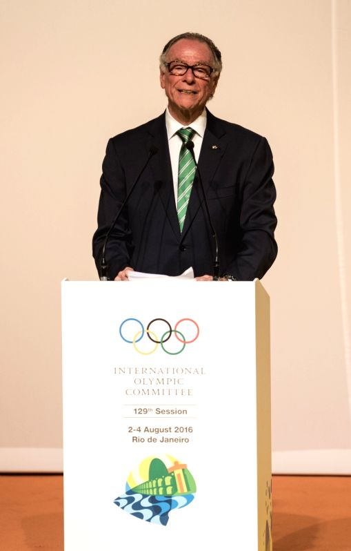 RIO DE JANEIRO, Aug. 1, 2016 - President of Rio 2016 Organizing Committee for the Olympic Games Carlos Arthur Nuzman addresses a speech during the opening ceremony of the 129th International Olympic ...