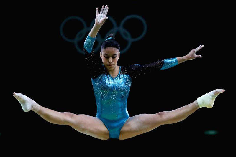 RIO DE JANEIRO, Aug. 7, 2016 - Guatemala's Sofina Ana Gomez competes for the artistic gymnastics preliminary round of balance beam at the Rio 2016 Olympic Games in Rio de Janeiro on Aug. 7, 2016.