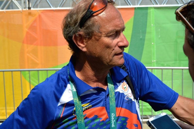 Rio de Janeiro: Indian hockey coach Roelant Oltman during the Pool B match between India and Argentina at the 2016 Rio Olympic Games in Rio de Janeiro, Brazil on Aug 9, 2016.