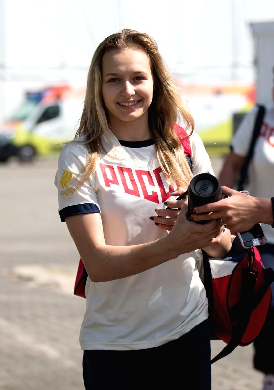 RIO DE JANEIRO, July 27, 2016 - Artistic gymnastics athlete Daria Spiridonova of Russia leaves after a training session for the Rio 2016 Olympic Games at the Rio Athlete's Park in Rio de Janeiro, ...