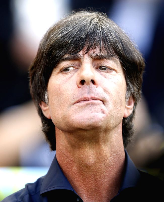 Germany's coach Joachim Loew is seen before a quarter-finals match between France and Germany of 2014 FIFA World Cup at the Estadio do Maracana Stadium in Rio