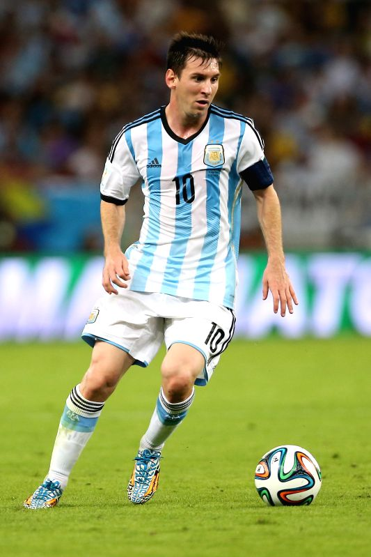 Argentina's Lionel Messi controls the ball during a Group F match between Argentina and Bosnia and Herzegovina of 2014 FIFA World Cup at the Estadio de ...