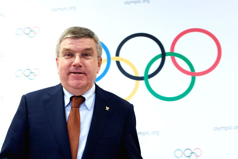 President of the International Olympic Committee (IOC) Thomas Bach attends a press conference in Rio de Janeiro, Brazil, Feb. 28, 2015. A press conference was ...