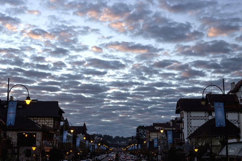 General view of the downtown of Gramado, in the state of Rio Grande Do Sul, Brazil, on July 2, 2014. Located in the Serra Guacha region, Gramado was ...