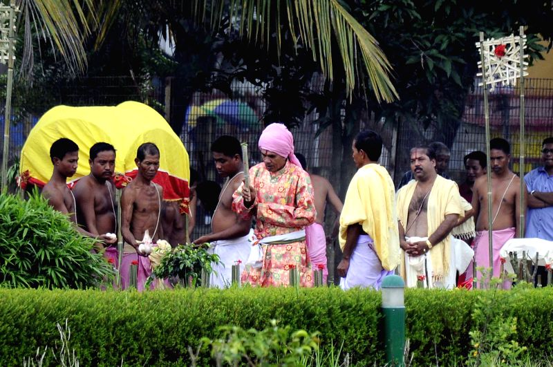 Rituals are being going on for ?Ker Puja? in Agartala (File Photo: Pinaki Das)