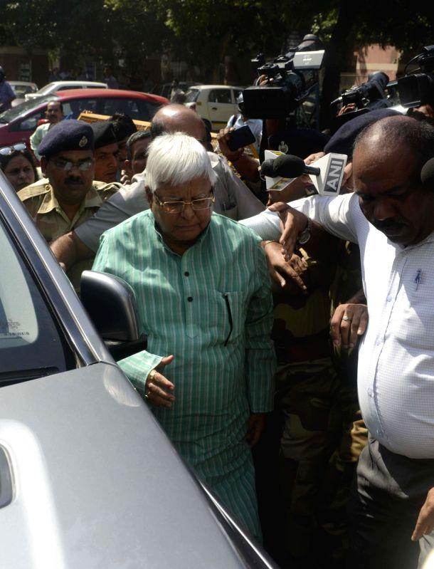 Lalu Yadav arrives at CBI headquarters - Lalu Yadav