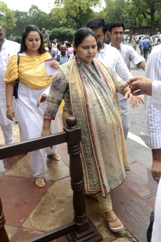 RJD leader Misa Bharti at Parliament in New Delhi, on July 18, 2016.