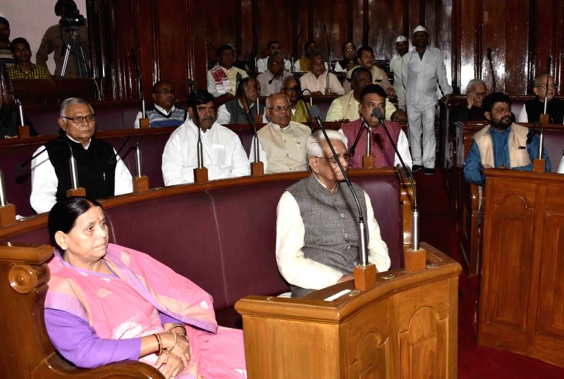 RJD leader Rabri Devi during the winter session of the Bihar assembly in Patna on Dec 4, 2015.