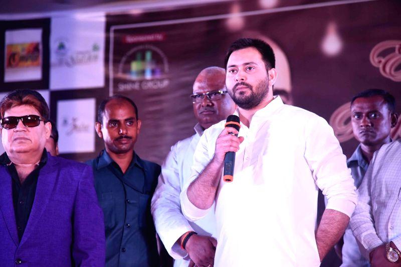 RJD leader Tejashwi Yadav during a programme in Patna on July 31, 2018. - Tejashwi Yadav