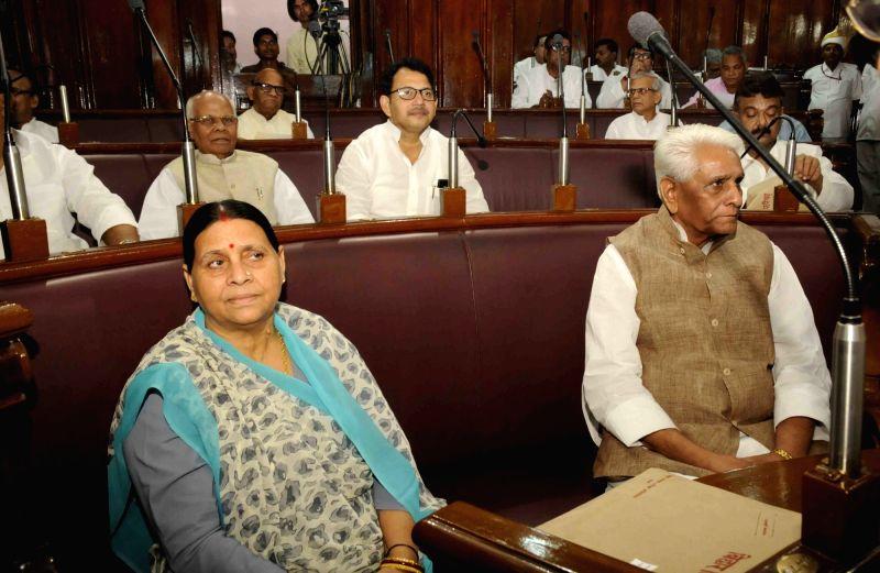 RJD legislator Rabri Devi during monsoon session of Bihar assembly in Patna on July 29, 2016.