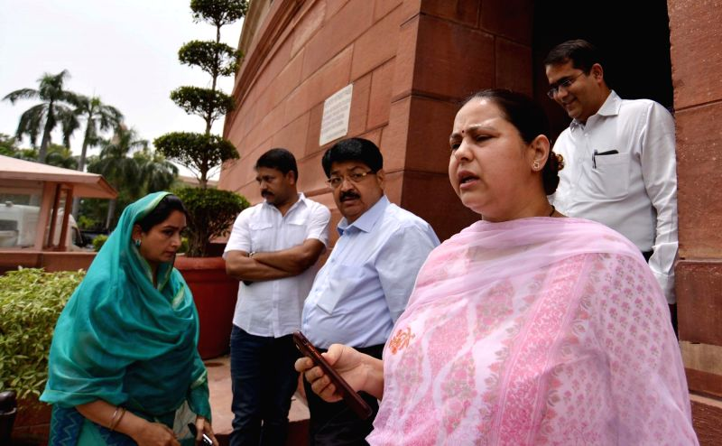 RJD MP Misa Bharti at Parliament in New Delhi on Aug 3, 2018.