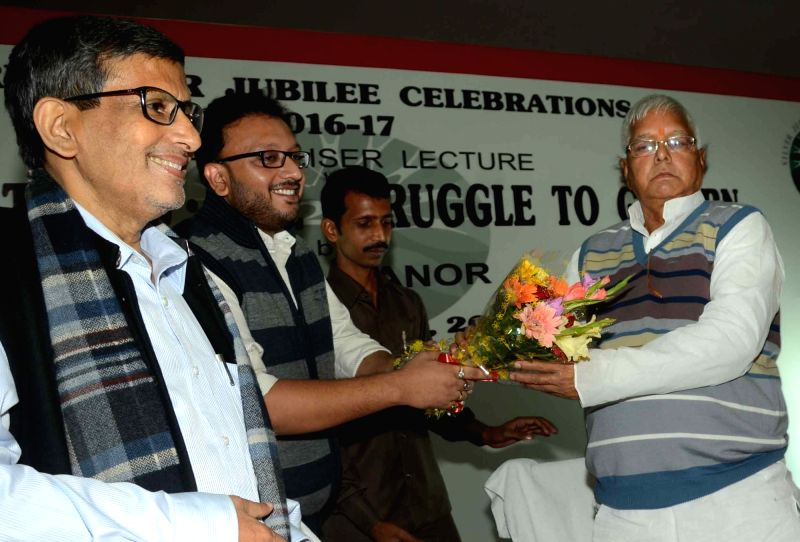 RJD supremo Lalu Prasad Yadav during a programme in Patna on Nov 30, 2015. - Lalu Prasad Yadav
