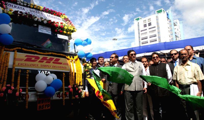 Road Transport and Highways Secretary Vijay Chhibber at the launch of pilot run of Cargo Vehicle under Bangladesh-Bhutan-India-Nepal Motor Vehicles agreement from Kolkata to Agartala via ...