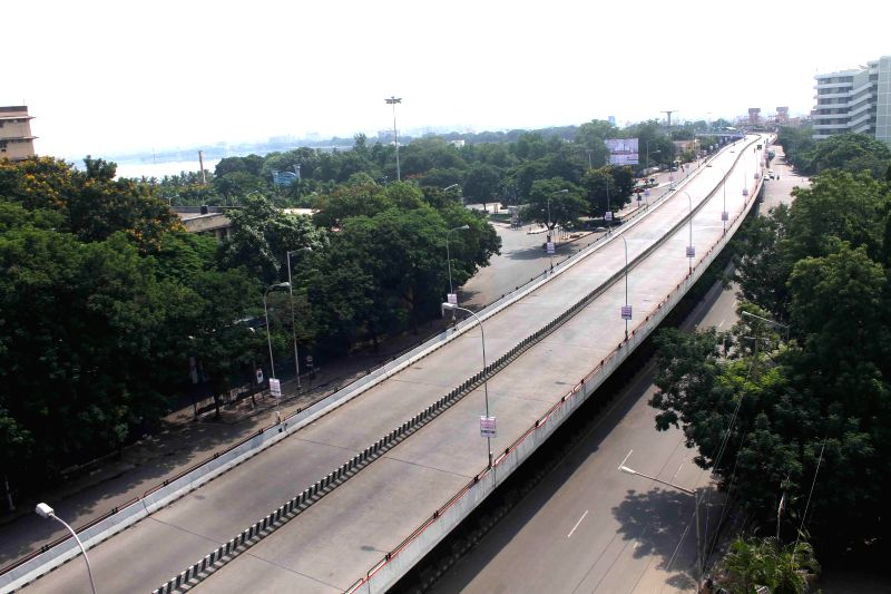 Roads of Hyderabad remain deserted as the Telangana government declared a holiday to enable people to remain at home and participate in the household survey.The government has ordered Road Transport .