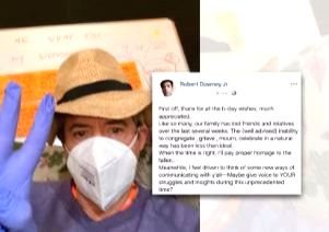 Robert Downey Jr. remembers friends, relatives lost over past weeks in b'day post .