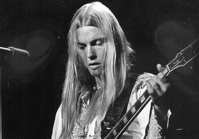 Rock legend and \'Southern Rock\' pioneer Gregg Allman at the beginning of his musical journey