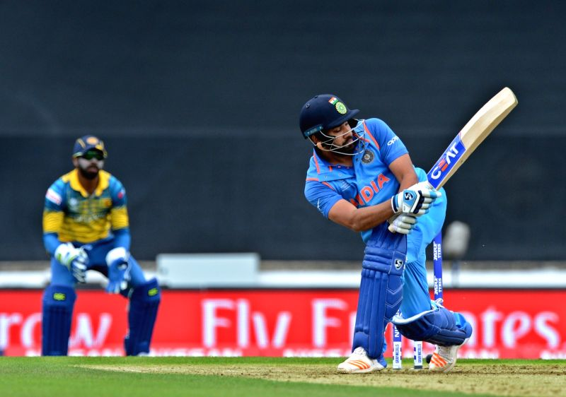 Rohit Sharma of India in action during ICC Champions Trophy, Group B match between India and Sri Lanka at Kennington Oval, London, UK on June 8, 2017. - Rohit Sharma