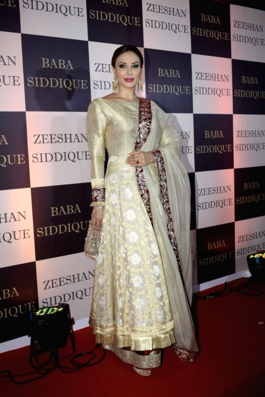 Romanian TV presenter Iulia Vantur at politician Baba Siddique's iftar party in Mumbai on June 10, 2018.