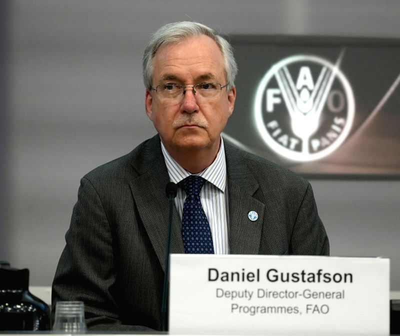 ROME, June 7, 2018 - UN Food and Agriculture Organization (FAO) Deputy Director General for Programmes Daniel Gustafson attends the FAO side-event, at the FAO headquarters in Rome, Italy on June 6, ...