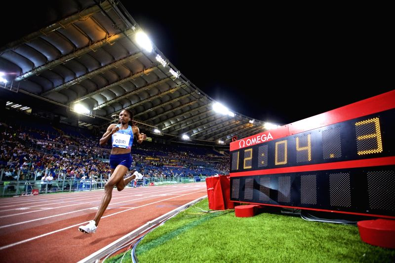 ROME, June 9, 2017 - Hellen Onsando Obiri of Kenya competes during the women's 5000m event at the Rome's Golden Gala Pietro Mennea, part of IAAF Diamond League competition in Rome, Italy, June 8, ...