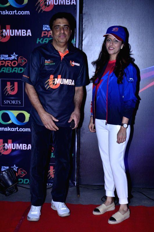 Ronnie Screwvala owner of Mumbai Kabaddi team during the Pro-Kabaddi League between U Mumba vs Jaipur Pink Panthers in Mumbai on 27, July 2014.